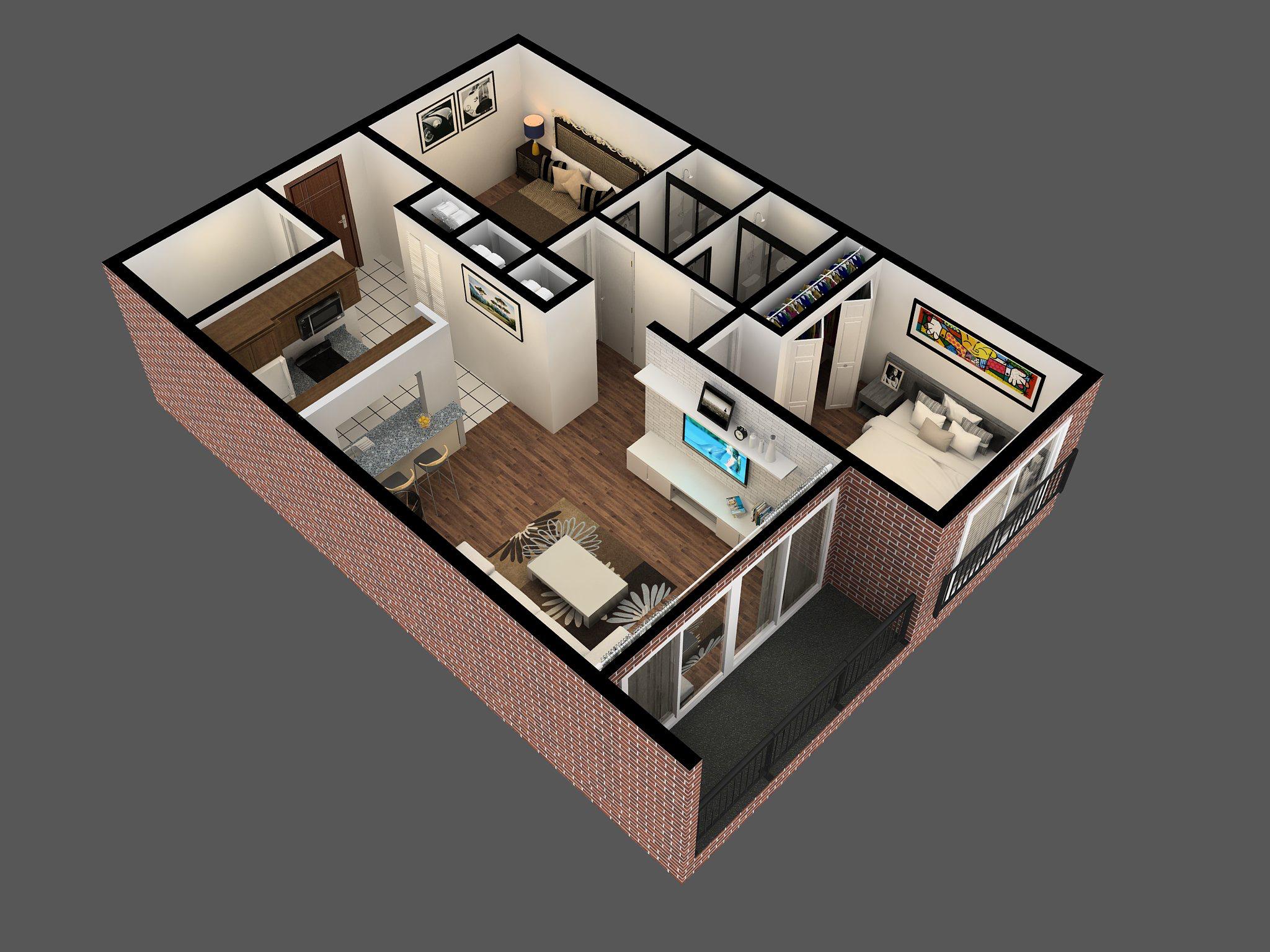 2 Bedroom Bath Apartments